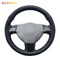 APPDEE Hand-stitched Black PU Artificial Leather Car Steering Wheel Cover for Opel Astra 2005 2006 Vauxhall Astra