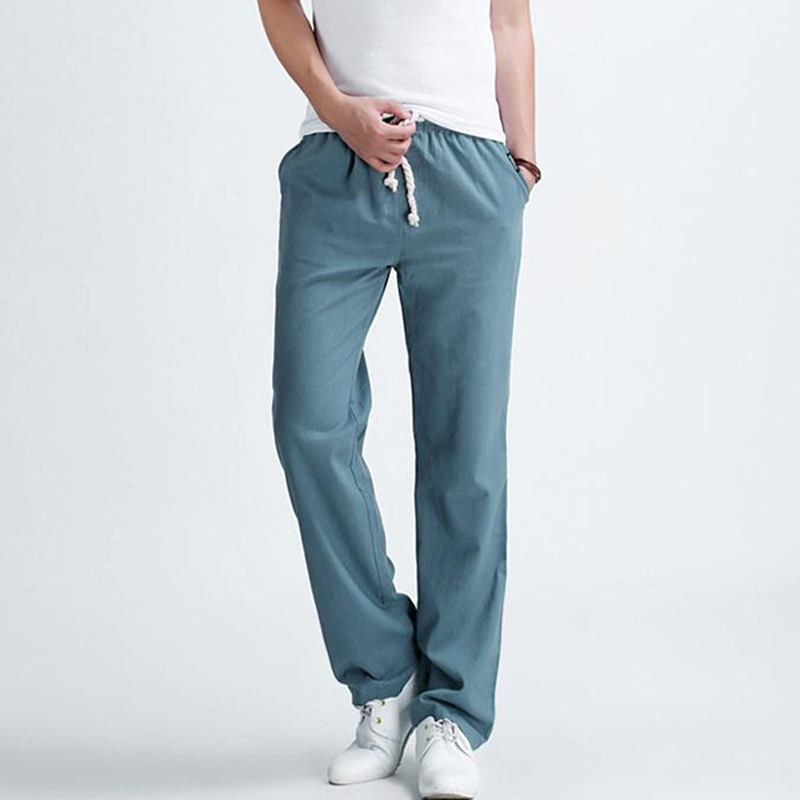 Men-s-casual-pants-2016-New-Men-s-solid-color-linen-casual-trousers-Stylish-and-comfortable