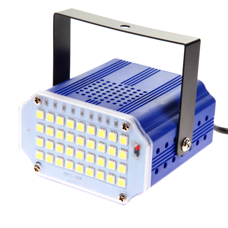 Mini 36 Led stage lighting strobe Effect DJ Disco light sound voice control Flash stroboscope RGB/White stage lamp party show