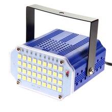 Mini 36 oświetlenie sceniczne led efekt stroboskopowy światła disco dla dj dźwięk sterowanie głosem Flash stroboskop RGB/biała lampa sceniczna party show