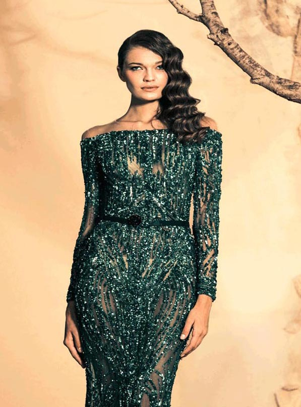 Emerald Shoulder Dress