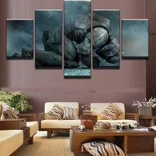 HD Print Science Fiction Cartoon Movie Star Wars 5 Piece Painting Wall Art Canvas For Room Home Decor Picture