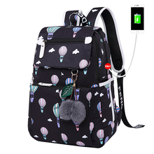 Women USB Charging Backpacks For Teenage Girls School Bags Black Travel Bags Bagpack Female Fashion Laptop Bag Mochila Feminina fashion brand 2016 canvas backpacks laptop rucksack men travel student school bags for teenage girls mochila bolsa feminina