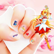 2017 New cartoon 3D Waterproof Nails Sticker Balabala littie magic fairy 7 Design Nails Foil Sticker Decor Decals for children(China)