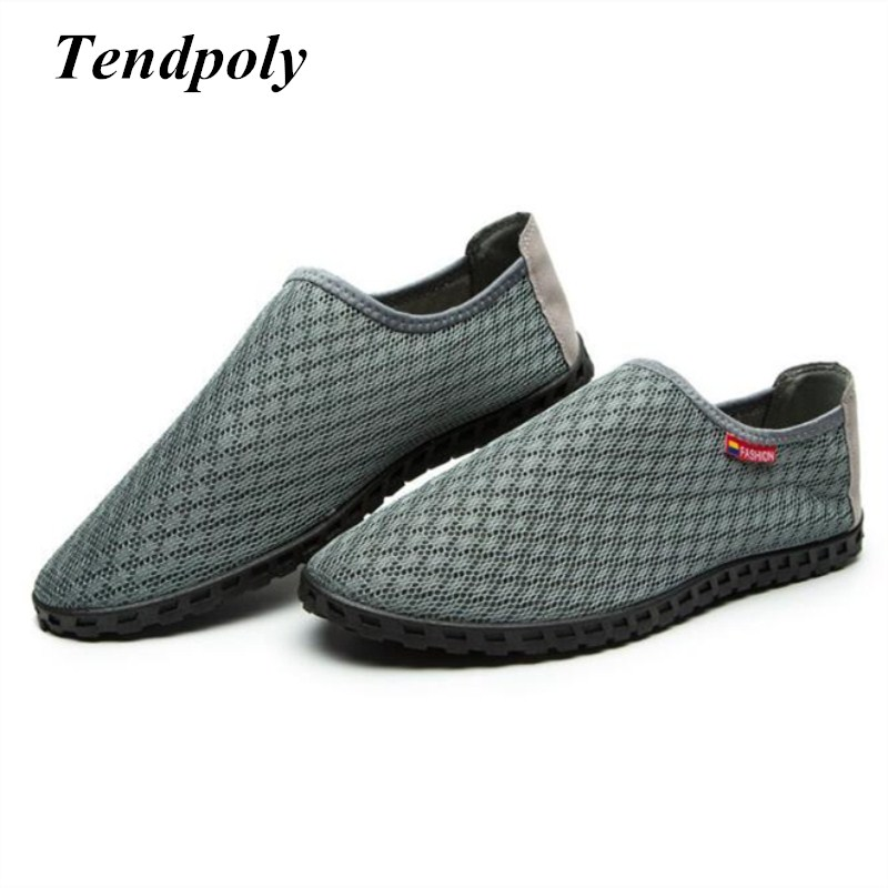 New large size fashion men's shoes summer lazy pedal breathable trendy section of the wild net shoes hot section casual