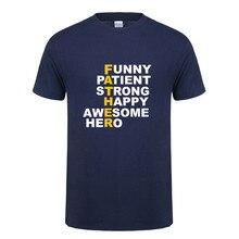 Omnitee новый подарок на день отца футболки Для мужчин топы папа футболка  Повседневное хлопок короткий рукав 40abdcfa766