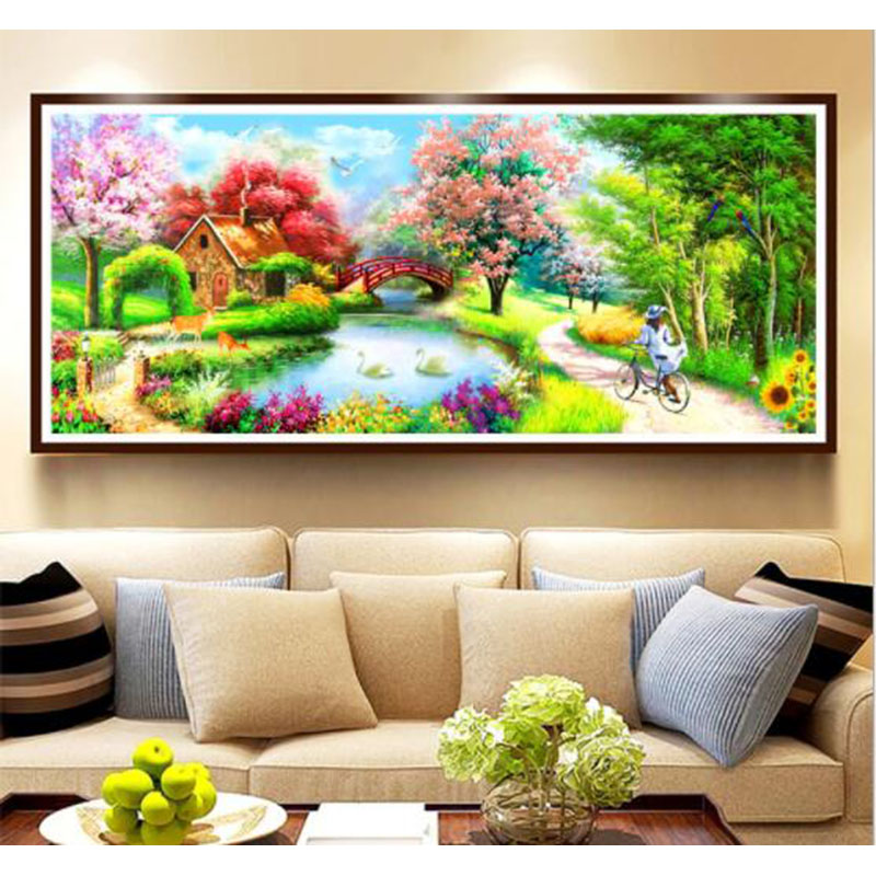 2019 New Diamand Painting Scenery Dream Cottage Diy Diamond Mosaic Drill Icons Diamond Embroidery Rhinestones Needlework Decor2019 New Diamand Painting Scenery Dream Cottage Diy Diamond Mosaic Drill Icons Diamond Embroidery Rhinestones Needlework Decor