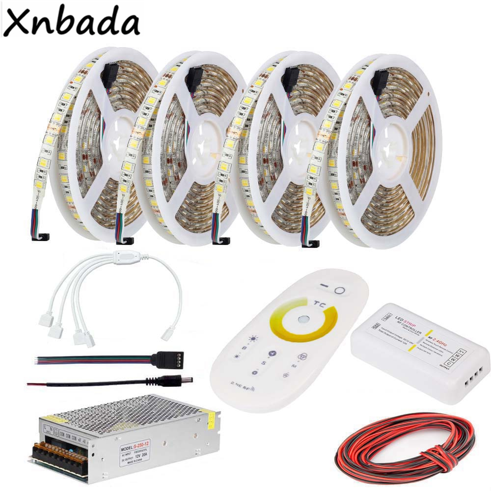 2.4G RF CT Touch Remote Led Controller,Led Strip 5050SMD Color Temperatur Flexible Light Power Adapter Kit
