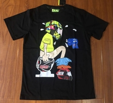 2017 Valentino Rossi VR46 Racing Black MotoGP Men's T-Shirt Quick Dry Black Jersey