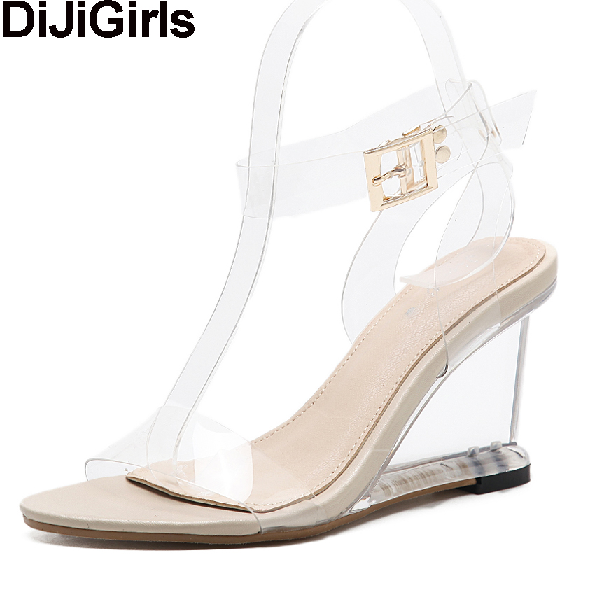 1ecdb91f6da Clear Wedge Heels - Js Heel