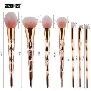 Image 5 - MAANGE 7/10Pcs Diamond Makeup Brushes Set Powder Foundation Eye Shadow Blush Blending Cosmetics Beauty Make Up Brush Tool Kits