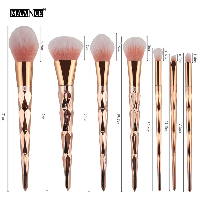 MAANGE 7/10Pcs Diamond Makeup Brushes Set Powder Foundation Eye Shadow Blush Blending Cosmetics Beauty Make Up Brush Tool Kits 5