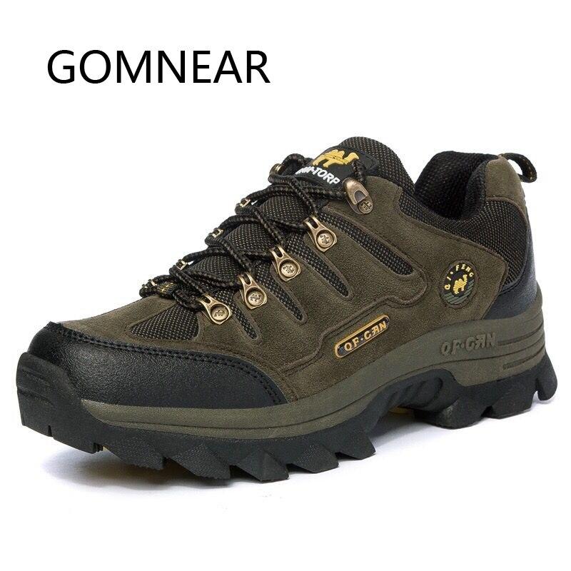 GOMNEAR Hiver Sneakers Pour Hommes Tactique Bottes En Plein Air Tourisme Randonnée Chasse Chameau Chaussures Respirant Camping Homme Sneakers