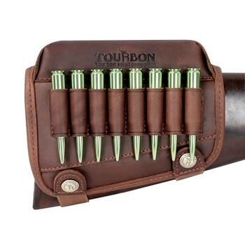 Tourbon – Nahkainen poskipakka patruunapidikkeillä oikeakätisille