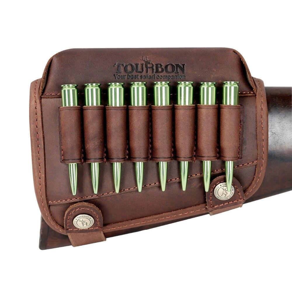 Tourbon ライフル銃銃床チークレスパッドリアルレザー弾薬カートリッジホルダー射撃狩猟銃アクセサリー  グループ上の スポーツ & エンターテイメント からの 狩猟銃アクセサリー の中 1