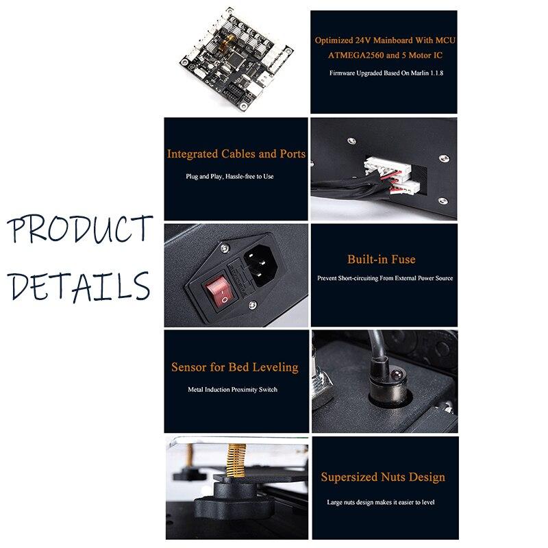 24V Safe Power Supply Ortur4 Imprimante 3d Overheating Protection 3d Drucker Resume Printing All Metal Impresora 3d 4