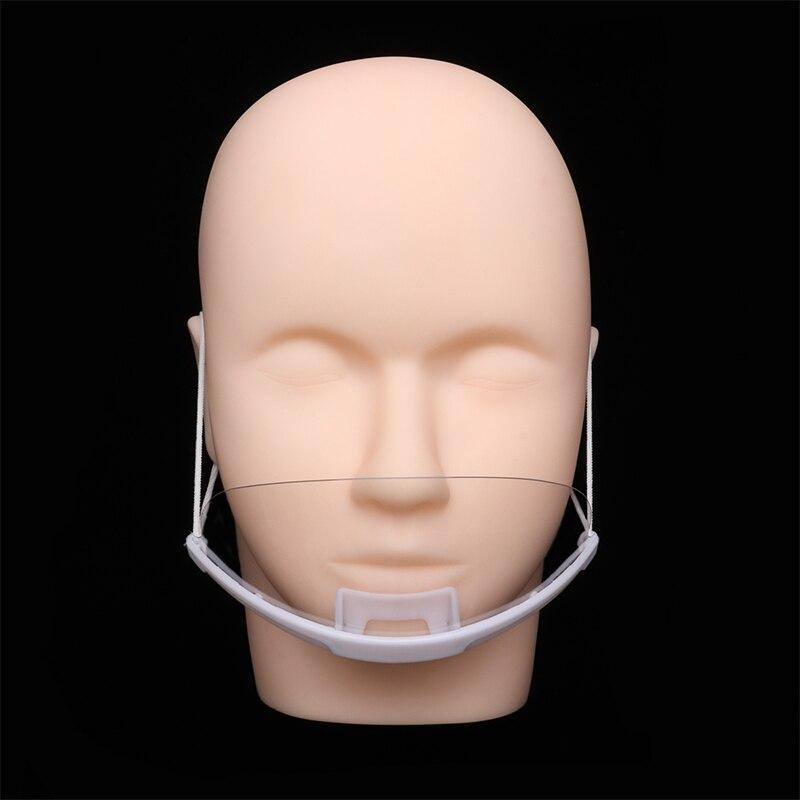 Transparent Health Mask Plastic Hygienic Anti Fog Shield Mouth Cover Masks Grafting Eyelashes Tools For Eyelashes Extension