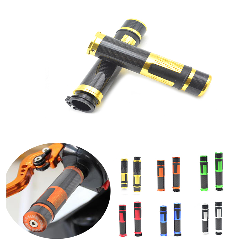for Universal 22mm 7 8 motorbike scooter CNC handlebar Motorcycle Rubber Handle Bar Hand Grips For