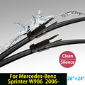 "Wiper blades for Mercedes-Benz Sprinter (W906, From 2006 onwards) 26""+24"" fit pinch tab type wiper arms only HY-017"