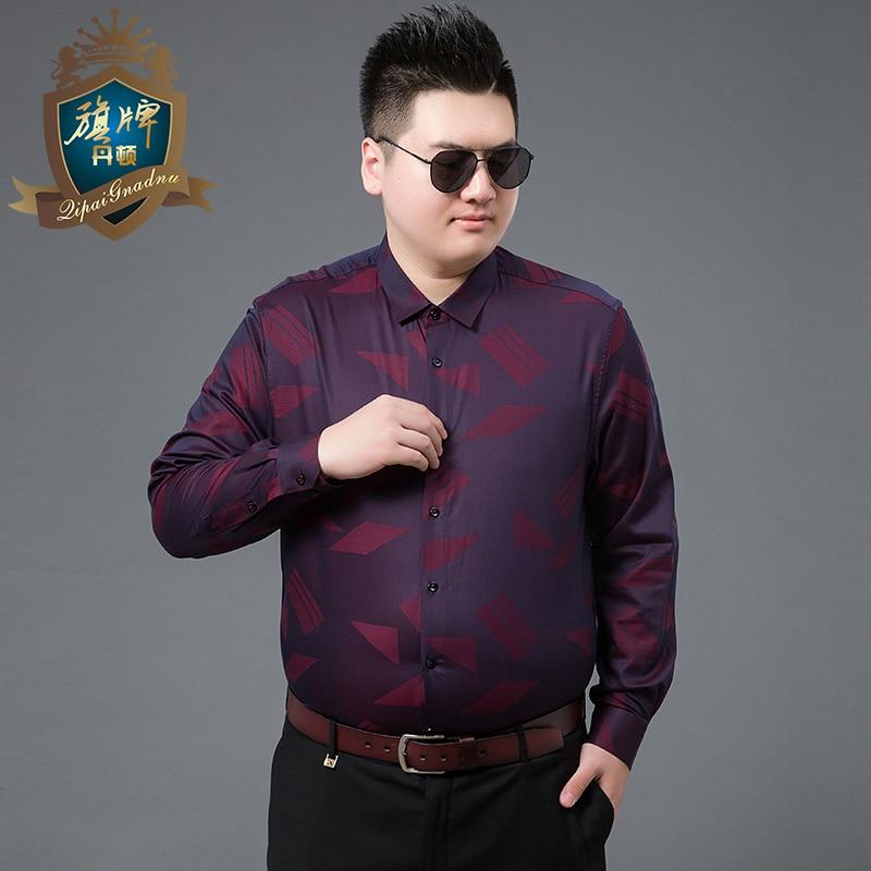 2018 Fashion Mannelijke Shirt Lange Mouwen Tops Borduurwerk Katoenen Shirt Heren Hawaiian Jurk Shirts Slim Mannen Shirt Plus Size 7xl Merk