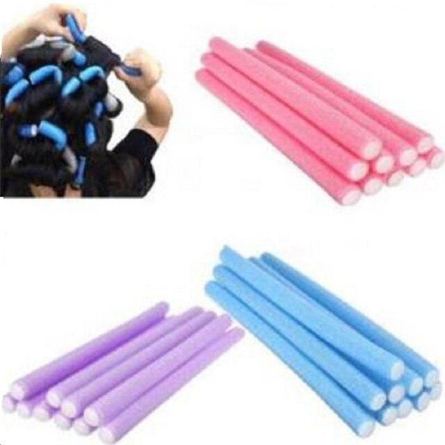 5Pcs Soft Hair Curler Roller Curl Hair Bendy Rollers DIY Magic Hair Curlers Tool Styling Rollers Sponge Hair Curling