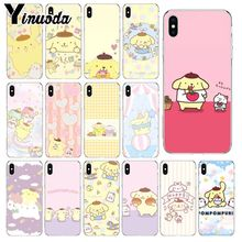 Yinuoda Sanrio pompompurin cartoon girl Coque Shell Phone Case for Apple iPhone 8 7 6 6S Plus X XS MAX 5 5S SE XR Mobile Cases