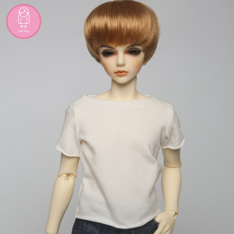 OUENEIFS free shipping bjd wig 7-8 inch 1/4 high-temperature wig boy short hair doll Wigs with bangs fashion type stylish hair with love hair 6a 13 4 withlove20150201