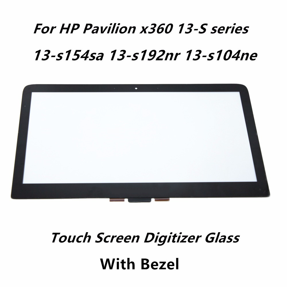 13.3 Touch Panel Screen Glass Lens Digitizer Replacement +Bezel For HP Pavilion x360 13-S series 13-s154sa 13-s192nr 13-s104ne 11 6 touch screen digitizer glass panel replacement repairing parts for sony vaio pro 11 svp112 series svp121m2eb svp11215pxb