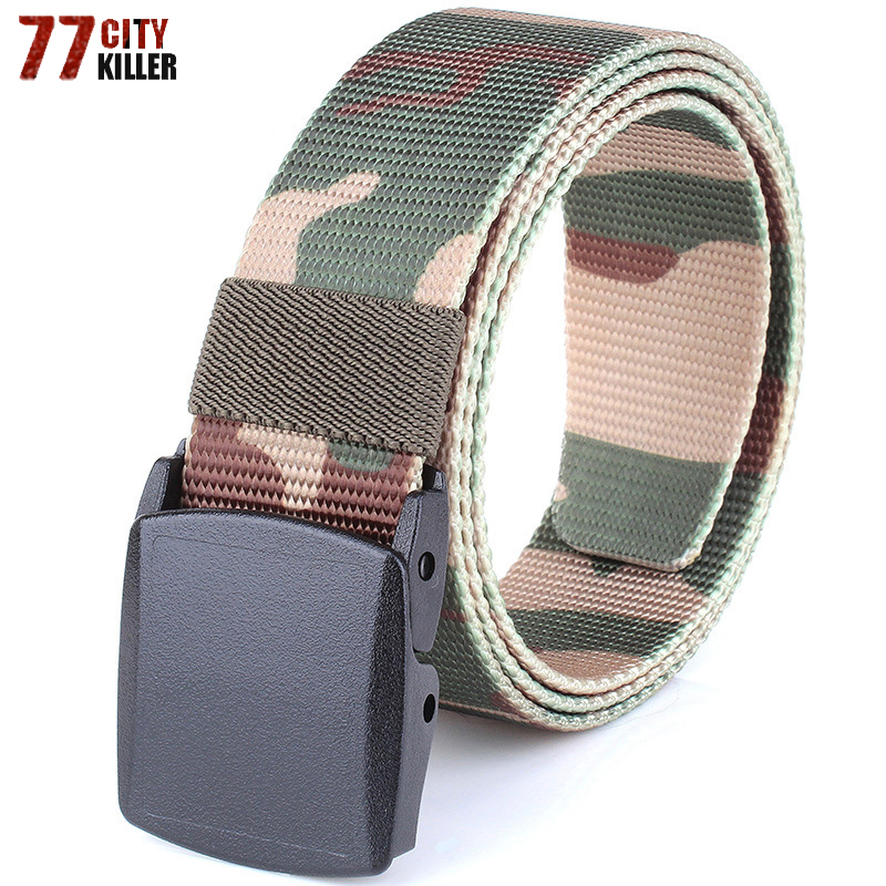 USA 4 Colors Outdoor Camping Hiking Wearproof Buckled Adjustable Belt Waistband