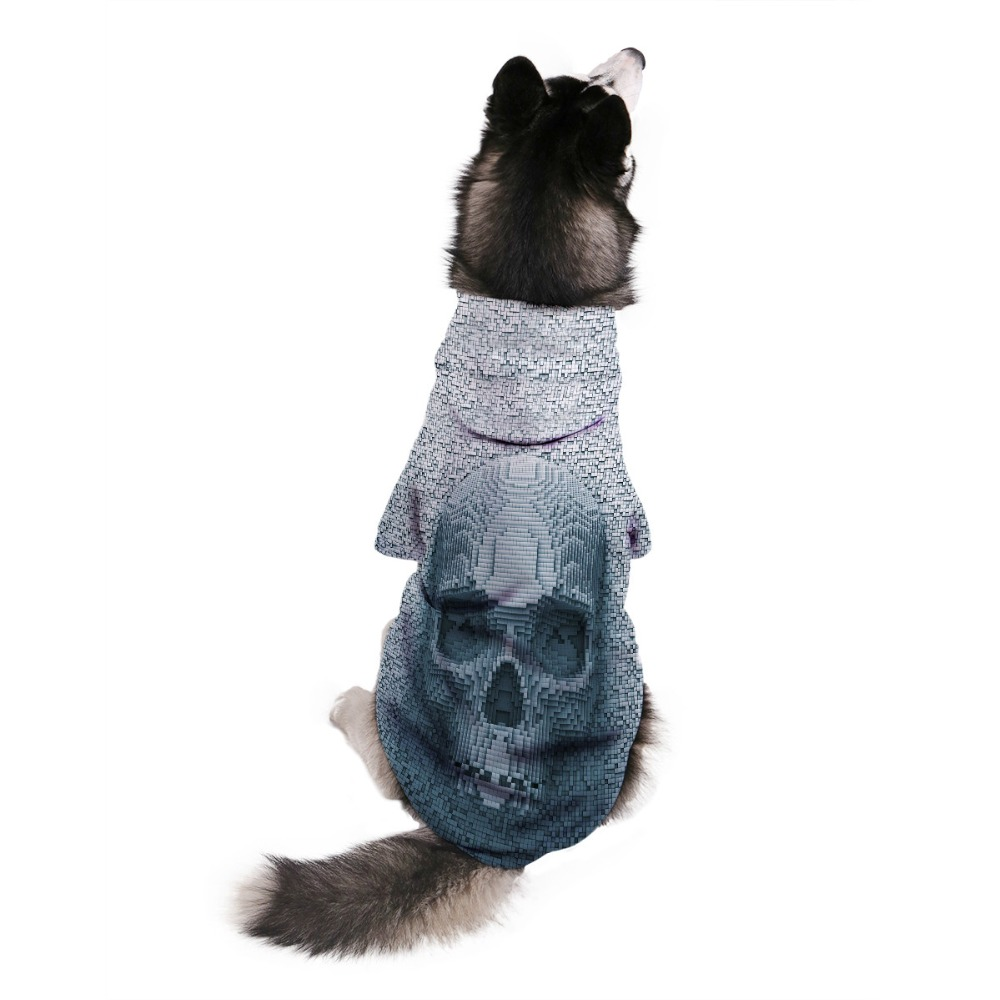 Pet Cloth 3D HD Dog Hoodie Warm Sweater shirt Funny Skull Cat Dog Puppy Clothes Fashion Coat Unique Design Dog Costume