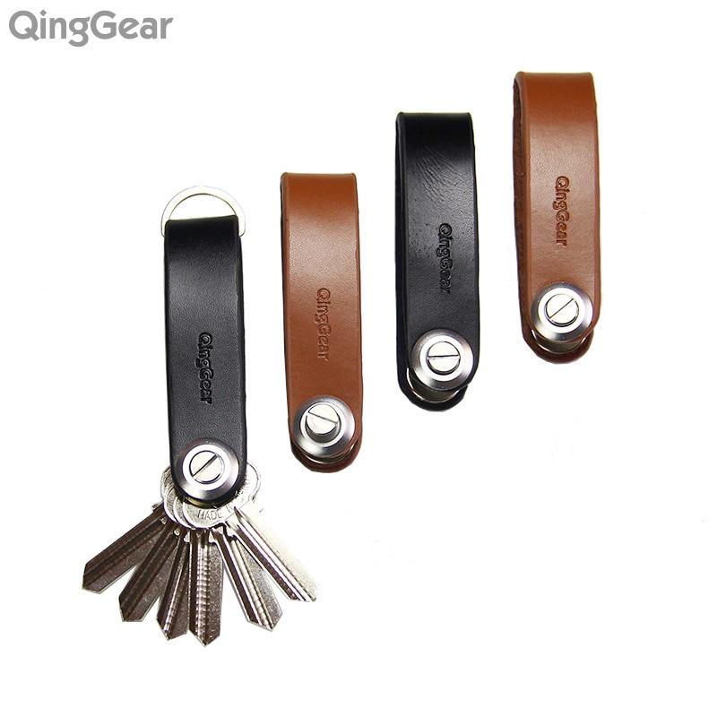 """4PCS / LOT rankinių įrankių rinkinys """"QingGear LKey Key Organizer"""" - rankų darbo odinių raktų laikiklių įrankis - paprastas būdas nešiotis raktus"""