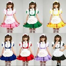 Inu x Boku SS 7Colors Lolita Sweet Apron Maid Dress Meidofuku Uniform Outfits Anime Cosplay Costume M-XL