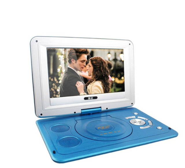 2019 New 14 Inch HD Portable Rotating Screen Smart TV EVD DVD Player Mini TF Card And USB Audio And Video Playback Television 5