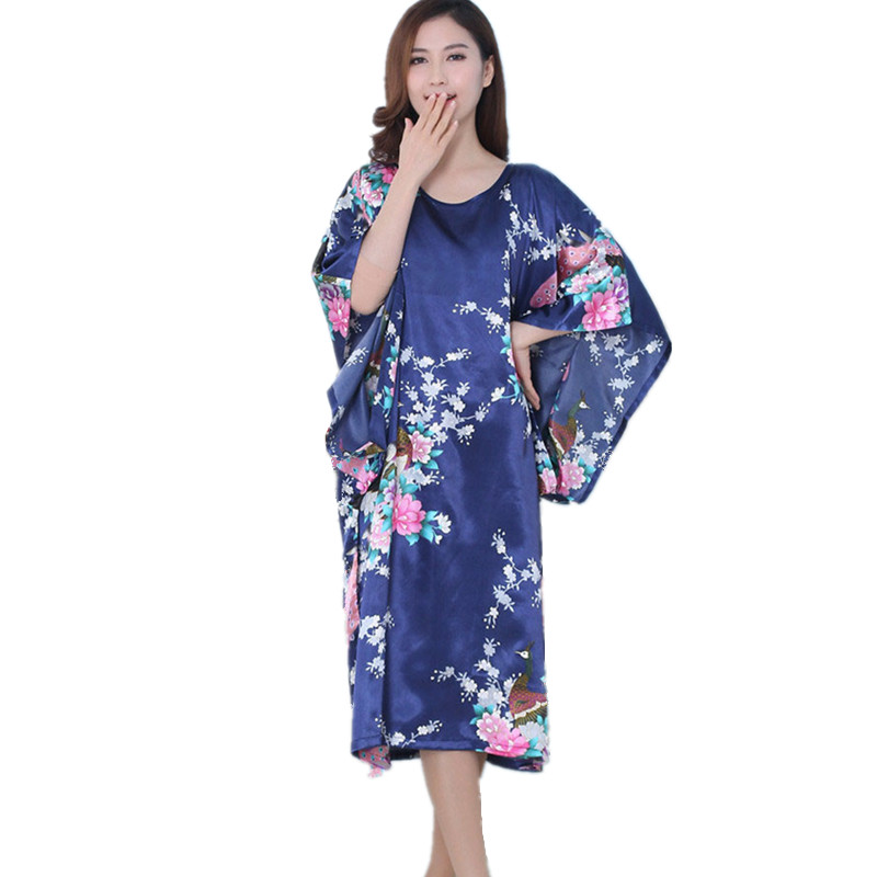 Silk Dressing Gowns Ladies: Aliexpress.com : Buy Batwing Sleeve Satin Robe Chinese