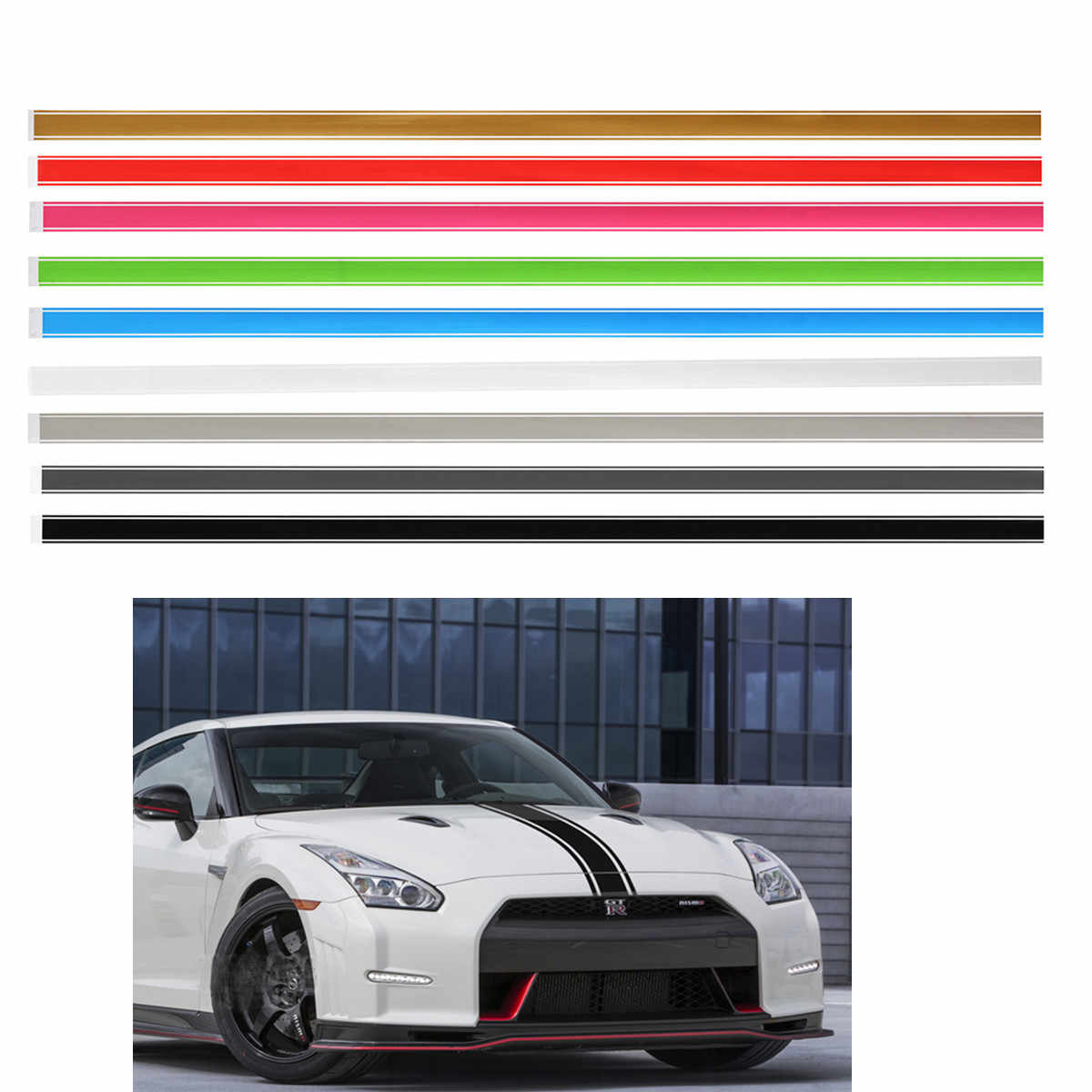 5 Sets Multicolor Pinstriping Pin Stripe Vinyl Tape Decal Sticker Auto Line