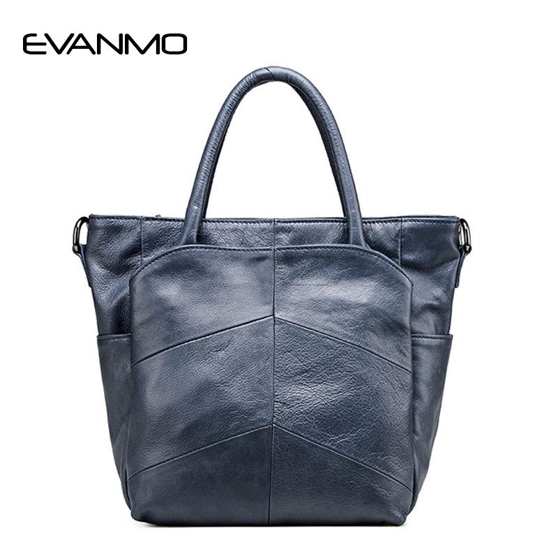 Women's First Layer of Leather Handbags Casual Shoulder Bag Famous Brand Genuine Leather Women Messenger Bags Femme De Marque new women vintage embossed handbag genuine leather first layer cowhide famous brand casual messenger shoulder bags handbags
