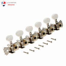 String Tuning Pegs Keys Tuners Machine Heads for Classic Electric Guitar Replacement Open Style 6L Inline Folk Style Metal Butto