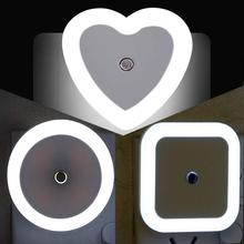 LED Plug-in Nightlight Lamp Night Light Sensor EU/US plug Wall Lamp Automatic Light 0.5W Dusk to Dawn Sensor for Bathroom bedroo