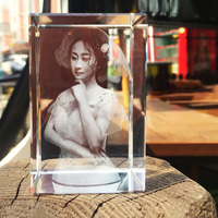 1 pcs 3D Personalized Crystals Glass Photo Customized Laser Engraver Glass Home Decor Crystal Picture Sphere Birthday Gift
