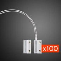 100PCS Kerui Wired Door Sensor Garage Gates Magnetic Door Window Detector 433MHz For Home Alarm System Security