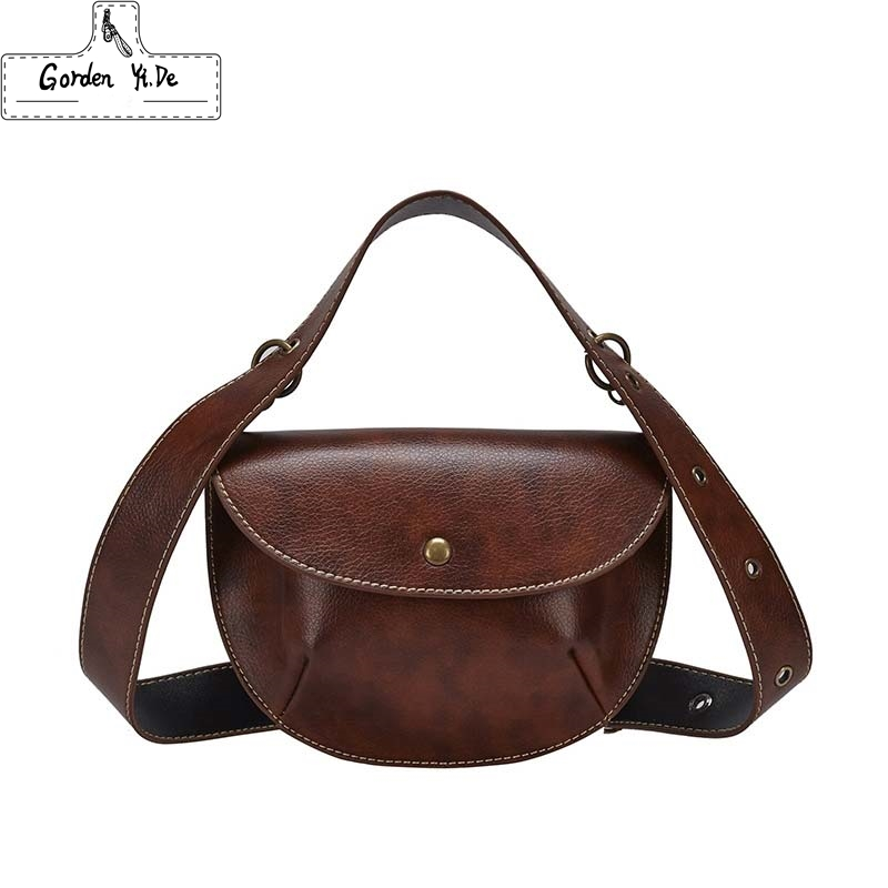 2019 Multi-use Woman Leather Belt Bag For Women Pack Waist Bag Luxury Brand Leather Chest Handbag Brown New Fashion High Quality