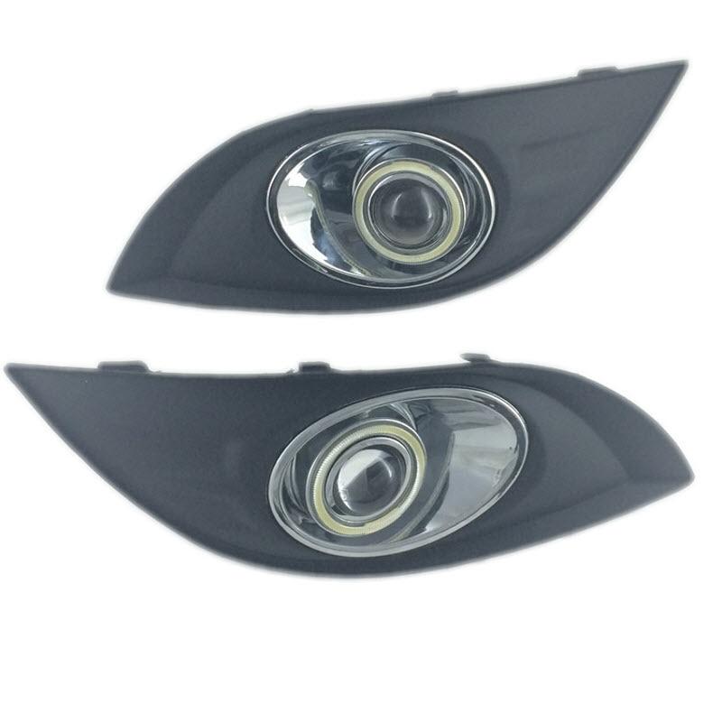 Для Великой стены Voleex c50 в 2012 г.-Белый Ангел глаза DRL желтый сигнал свет H11 55W Противотуманные фары с объектива проектора