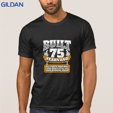 GILDAN Casual 75th Birthday Gift Idea Mens Short Sleeve