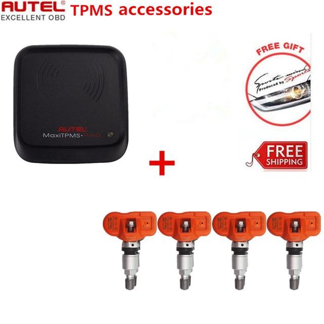 1pcs Autel MaxiTPMS PAD TPMS Sensor Programming Accessory Device + 4pcs Autel MX-Sensor 433MHz TPMS Sensor