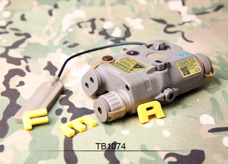 FMA Tactical Military PEQ LA5-C Upgrade Version LED White light + Red laser with IR Lenses BK/DE/FG Battery case