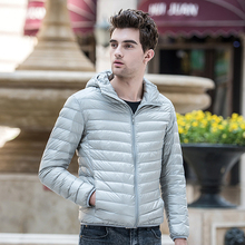 2019 Down Jacket Men Winter Portability Warm 90% White Duck Hooded Solid Silm Fit Man Coat Waterproof S-3XL