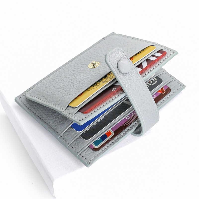Alisara femmes carte de crédit porte-monnaie portefeuille en cuir véritable filles petits sacs à main en cuir de vachette Mini porte-monnaie organisateur de porte-carte d'identité