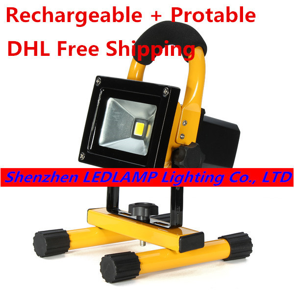 цена на 10W Rechargeable LED Floodlight Camping led outdoor light protable LED rechargeable flood light with EU/US/UK Charger DHL Free