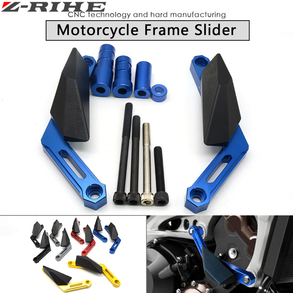 Motorcycle CNC Frame Slider frame sliders crash pads protect Motorbike Falling Protector For YAMAHA MT-09 MT 09 MT09 2014 2015 father john misty darmstadt