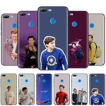 Black Silicone Case Bag Cover for Huawei Honor 10i Y7 Y6 Y5 Y9 8X 8C 8S 9 10 Lite Pro 2018 2019 Enjoy 9E 9S Shell Tom Holland(China)
